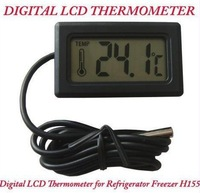 New Black Digital LCD Thermometer for Refrigerator Freezer H155 Home FREE SHIPPING