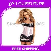Black & Pink Spandex / Polyster Sexy Lingerie Corset Underwear Women CS0107