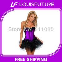 Sexy underbust corset set lingerie strap overbust corset G-string 1 set&victorian corsets for sale CS0238