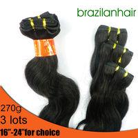 "NEW ARRIVAL:Fashion Beautiful body wave hair,Human Hair Extension 3 bundle(9pcs),16'' -24"" 1B&2# chose Free shipping"