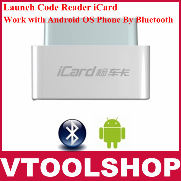 [VTOOL]100% original Launch diagnostic tool code reader iCard OBDII/EOBD with Android OS By Bluetooth Support Multi-language(China (Mainland))