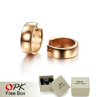 OPK JEWELRY Stainless Steel  Hoop Earrings Korean Style Rose Gold Plated Never Fade  Weight 11g  NEW ARRIVAL free shipping 253