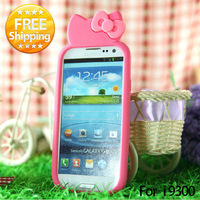 New style hello kitty silicone case for Samsung Galaxy S3 SIII  i9300  cute design free shipping
