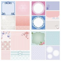 12x12 Specialty Cardstock 36 Sheets (18 Designs) for Scrapbooking - Royal High Tea