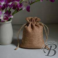 Hand-made drawstring jute bag gift packing bag retail bag Free shipping