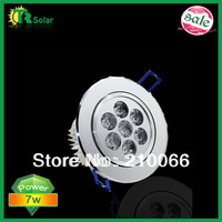 free shipping 6pcs 7W good quality high power indoor lamp Ceiling Recessed Light led downlight,down light home ceiling led