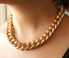 [Mix 15USD] 18inch GOLD Plated Chunky Aluminium Curb Chain Necklace jewelry(China (Mainland))