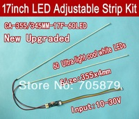 355mm Adjustable brightness led backlight strip kit,Update your 17inch  ccfl lcd screen panel monitor to led bakclight