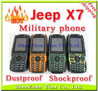 HOT Jeep X7 Military phone Shockproof long standby cell Phone with 2.0mp camera Dual SIM ,Russian language and Russian keyboard