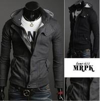 2014 New Brand Zipper Hooded Men Jackets Coats/Designer Long Sleeve Spring Jackets For Men/Casual Sportwears Men Clothing