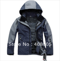 2 in 1 High Quality Man's Outdoor Double Layer Waterproof  Windproof  Mountain Skiing Jacket Climbing Jacket Men PIZEX