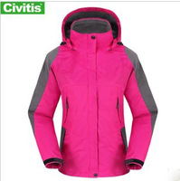 woman womens  soft shell Outdoor two-piece wind and waterproof Waterproof Climbing Skiing 2 in 1 Jackets  Sportwear    11210