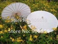 (30 pcs/lot) Handmade Diameter 33'' Straight Bamboo with Plain Color Paper Parasols Bridal Wedding Umbrella