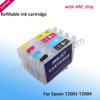 T2001 T200XL1  Refillable ink cartridges for epson XP-200 XP-300 XP-400 XP-100 WF-2530 WF-2520 WF-2510 WF-2540  with ARC chip