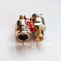 Free Shipping + 5PCs/lot SMA connector SMA male to N female RF connector adapter NO.73