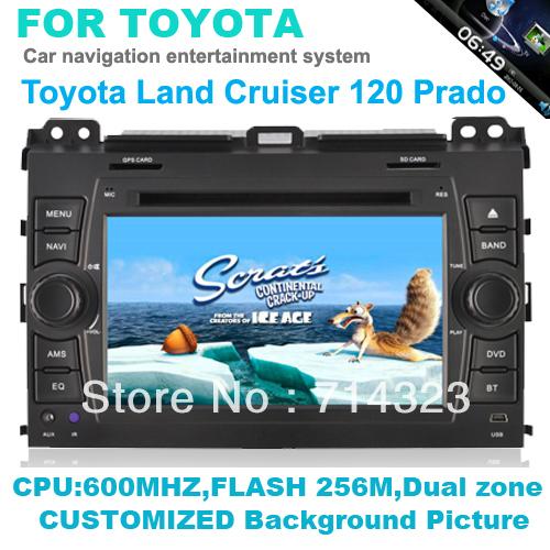 In Dash Head Deck Car PC DVD Player For 2002-2009 Toyota Land Cruiser Prado built in GPS Ipod Bluetooth rds radio audio system(China (Mainland))