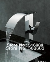 e-pak New Bathroom Deck Mount Single Hole Chrome Faucet Waterfall Tap A-503