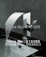 e-pak New Bathroom Deck Mount Single Hole Chrome Faucet Waterfall Tap A-503
