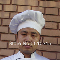 Full cotton high quality Hotel Chef round hat Confectioner White cloth hat Pasta Square hat(China (Mainland))
