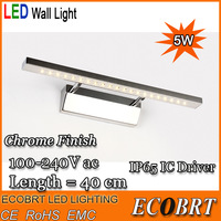 2014 luminaire modern high quality 5w bathroom mirror-front wall lamp lights as mirror spot light 220v