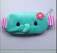 5PCS Blue Elephant Plush Pen Pencil BAG Pouch Case Packs ; Pendant Cosmetics & Beauty Pouch Bag Case Coin Purse Wallet BAG