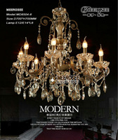 New ! Gold chandelier luster light fixture free shipping MD8504-L6