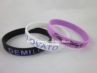 STAY STRONG DEMI LOVATO WRISTBAND, silicon bracelet, filled in colour, 3colours, 100pcs/lot, free shipping