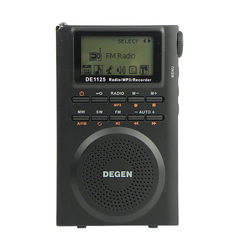 DEGEN Digital Radio Recorder FM Stereo MW SW AM MP3 E-Book 4GB DE1125 New D2976A Alishow(China (Mainland))