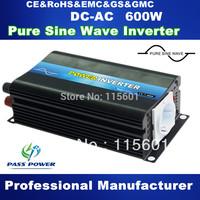 12V 220V Inverter  600W Pure Sine wave Inverter  Off Grid invertor free shipping