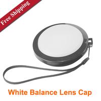 White Balance Lens Cap Protective Lens Cover Metal Screw Lens Cover 52mm 55mm 58mm 62mm 67mm 72mm 77mm  FREE SHIPPING