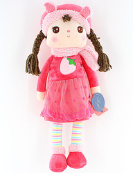 Free shipping/hot sale Metoo winter dress fabric toy Angela girl doll for children birthday gifts 42cm 1pc(China (Mainland))