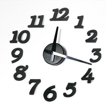 Free Shipping DIY clock  Creative Wall clock/Simple fashion clock/The digital dot/White, orange, black