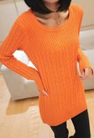 Turtleneck basic sweater  thickening long design thermal sweater basic shirt long-sleeve slim Women