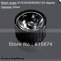 10x Led Lens 5 Degree For 1w 3w Lamp white & Black Holder