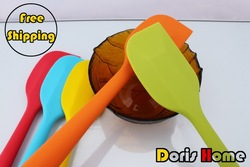 Free shipping silicone butter scraper cake spatula baking tools size L(China (Mainland))