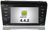 "7"" Two Din Android 4.0 MAZDA 3 2004 2005 2006 2007 2008 2009 Car DVD Player With GPS  PIP 3D UI WIFI 3G internet Free Shipping"