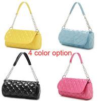 Hot!  4 color option messenger bags shining color handbags shoulder bags soft pu leather high quality cau