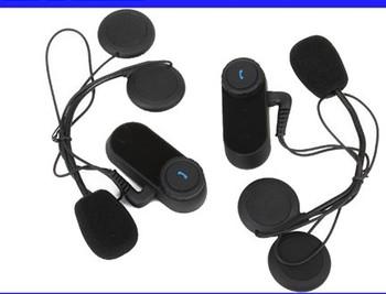 Free Shipping!!2x1000M Motorcycle BT Bluetooth Multi Interphone Headsets Helmet Intercom
