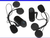 Free Shipping!!2x1000M Motorcycle BT Bluetooth Multi Interphone Headsets Helmet Intercom