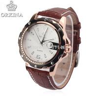 relogio masculino New leather wristwatch man watch with quartz watch ,retail and wholesale watch ORKINA 045