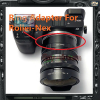 Third-party Lens mount Adapter Ring Rollei-NEX For Rollei QBM Lens & SONY NEX E Mount body NEX3 NEX5 NEX5N NEX7 NEXF3 NEX5R NEX6