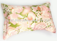 Free shipping/100% silk pillowcase/pillow case/pillow cover/envelope back/printed stain fabric/silk bedding/#ls1505-12