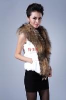 2014 faux fur short design arge raccoon fur rabbit fur vest women outerwear coats overcoat female winter clothing