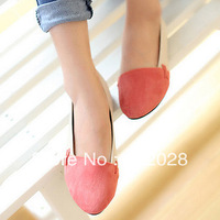 Female new arrival single shoes shallow mouth color block decoration gentlewomen pointed toe flat heel work shoes Free shipping