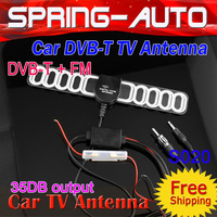 FREE SHIPPING 2 In 1 In Car DVB-T TV Antenna ES020 TV &Radio with Amplifier situable all CAR DVD(Easy install, High Power )