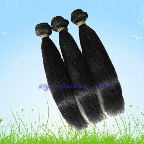 "Hot sale Peruvian Virgin straight hair 300g AAAAA Quality 3pcs/lot natural black 10 ""to 30"" free shipping(China (Mainland))"