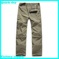 Dropshipping wholesale Outdoor Quick Dry UV Resistant Fast Drying Speed Dry Pants fishing Active Pants man soprt trousers pants
