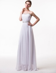 Hot Selling White Evening Dresses Party Cocktail Bridal A-Line Backless Dress Formal Gowns Prom Ball Wedding Free Shipping LF008(China (Mainland))