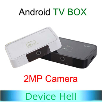 Free Shipping!!Android TV IPTV Box Allwinner A10 1GB 8GB with 2MP Camera WiFi VGA and HDMI Port with IR Remote Droid Stick T5B
