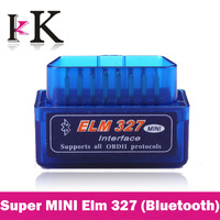 Free Shipping! Newest Super Mini ELM327 Bluetooth OBD2 Code Scanner ELM 327 For Multi-brand CANBUS Work  with Android Torque